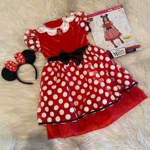 Girls Minnie Mouse costume (D)